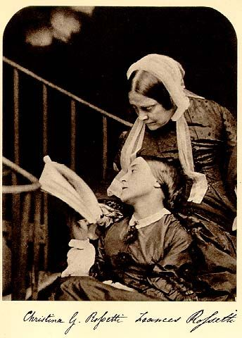 Christina Rossetti and her mother. Photographed Charles Dodgson