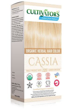 Organic Herbal Hair Color - Cassia Natural hair dye with 100% organic and chemical free ingredients for natural and healthy hair, color with care.