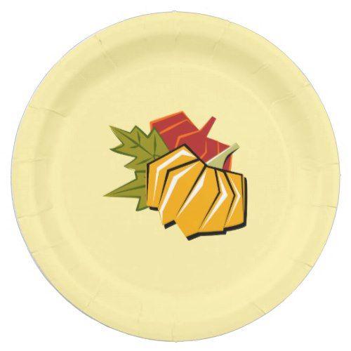 Pumpkin Design Thanksgiving Paper Plates  sc 1 st  Pinterest & 1854 best Thanksgiving Dinner Ideas images on Pinterest | Dinner ...