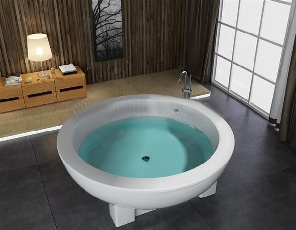 71'Round freestanding bathtub and acrylic +ABS composite board soaking Hot tub W8003