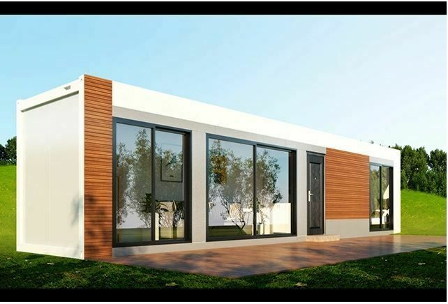 320 Sq Ft 1 Bd 1 Bth Modern Wood Accent Shipping Container Hm Financing Avail Ebay Container House Building A Container Home Container House Design
