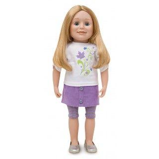 Maplelea Friend with medium-long blonde hair, light skin, blue eyes
