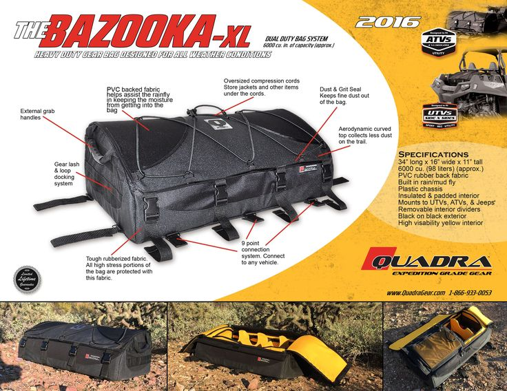 Bazooka-XL UTV/ATV Bag from Quadra