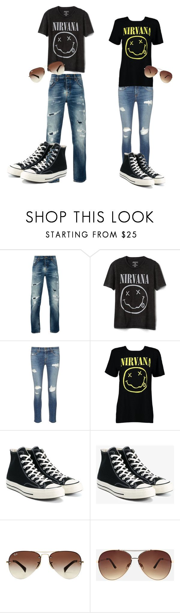"""Untitled #19"" by jaca757 ❤ liked on Polyvore featuring Nudie Jeans Co., Gap, rag & bone/JEAN, Boohoo, Converse, Ray-Ban and Ashley Stewart"