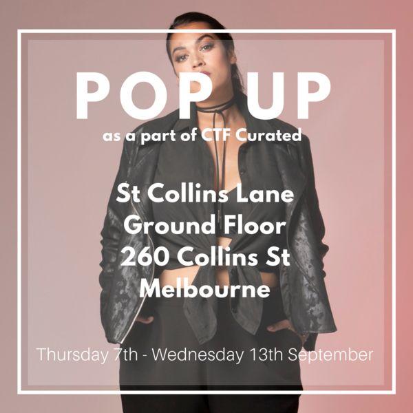 Harlow plus size Melbourne pop up store