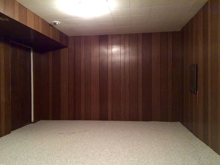 View Of The Odd Room In Our 70s Basement This Is The