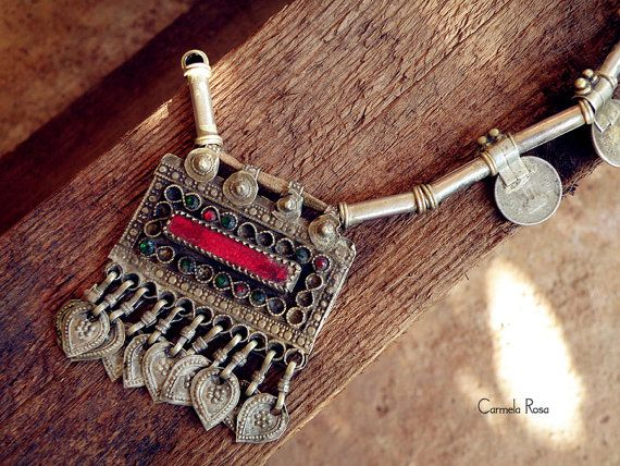 Afghan jewelry Ethnic necklace Berber necklace by CarmelaRosa