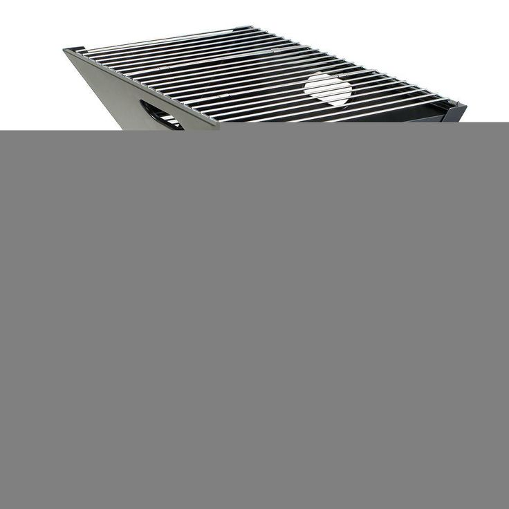 Picnic Time X-Grill Folding Portable Charcoal Grill in Black