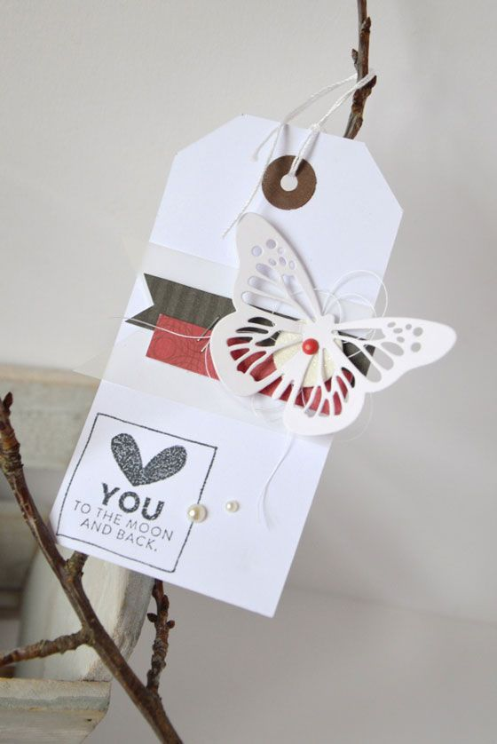 Note 2 self : Would be cute on a card...tag scrap saint valentine