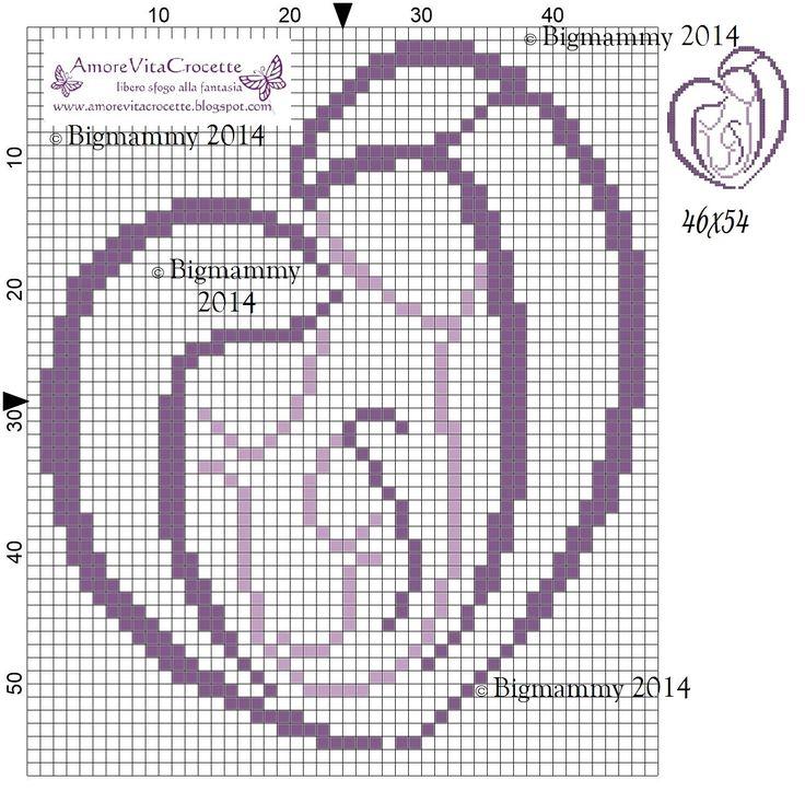 Sacra famiglia cuore bicolore   misura schemi/ricamo: 46x54 - 69x82 - 98x115 (misura in quadretti)     scaricabile in pdf da QUI       ...
