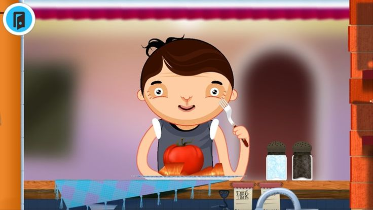 Toca Kitchen // Ever wanted to play with your food? Now you can! Toca Kitchen lets you cook and play with food for four hungry characters. Pick any ingredient and prepare it in your own way! Slice, boil, fry, cook, microwave or mix? And wait for your hungry friend´s response…
