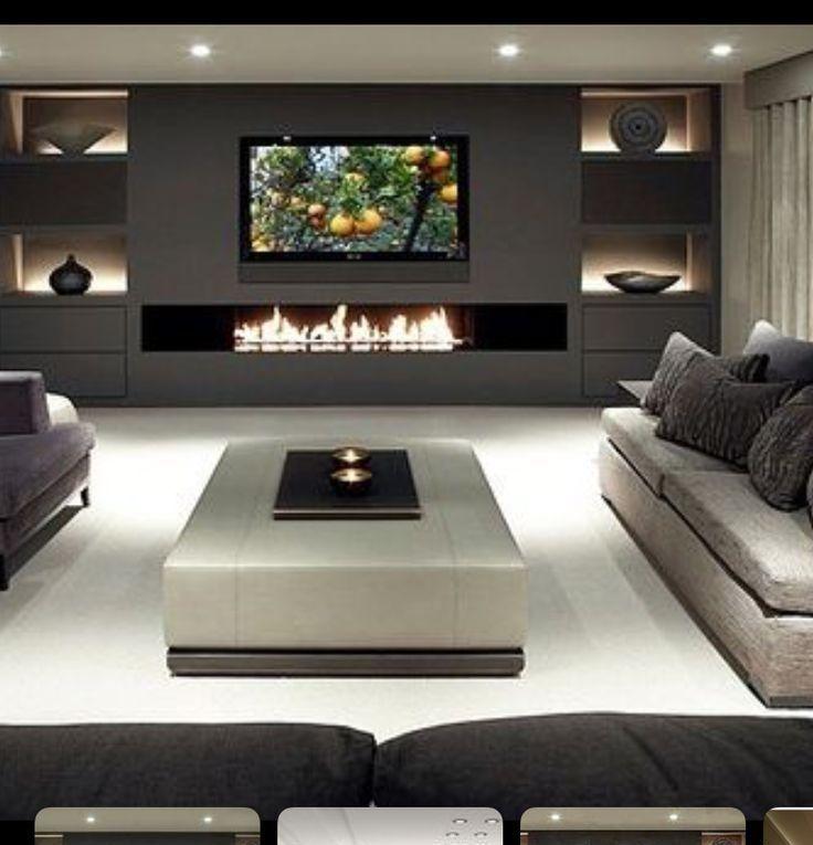 Tv Above Horizontal Fire Place Kamin Idee Trendy Living Rooms Living Room Tv Cozy Living Rooms