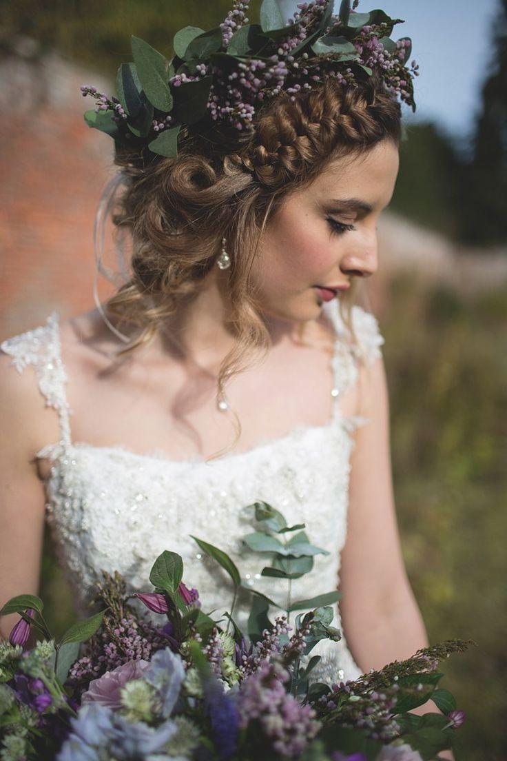 Plait Braid Hair Halo Bride Style Feminine Bohemian Beautiful Bridal Ideas http://www.photographsbyeve.co.uk/
