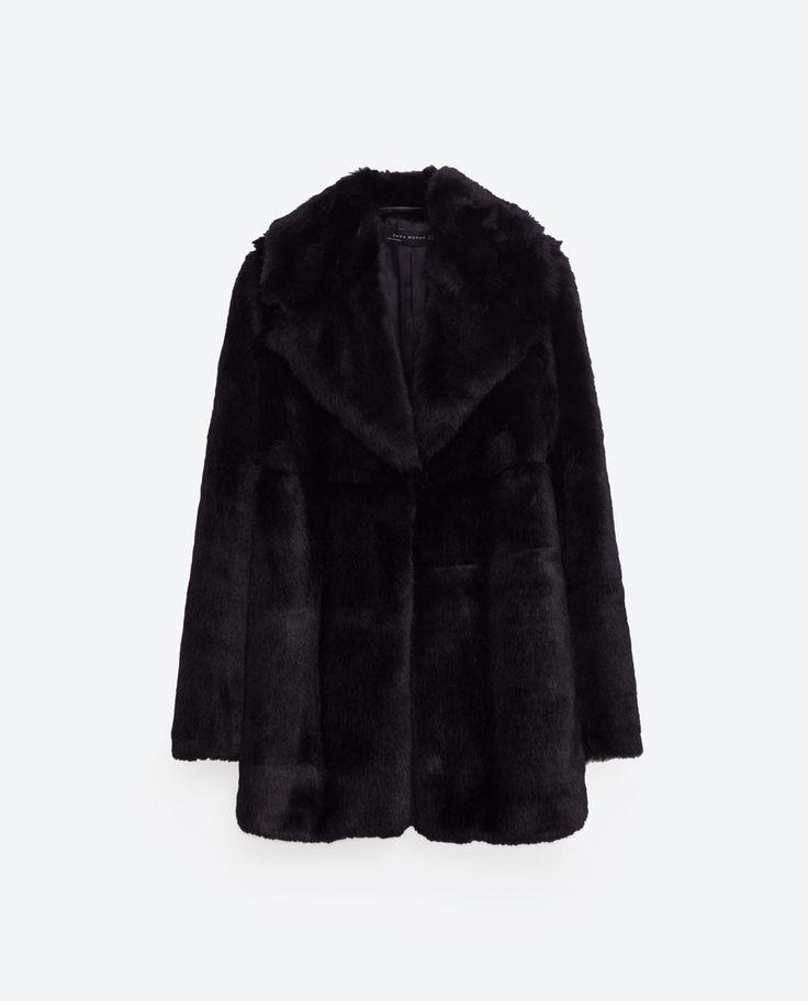 Image 8 of SHORT FAUX FUR COAT from Zara