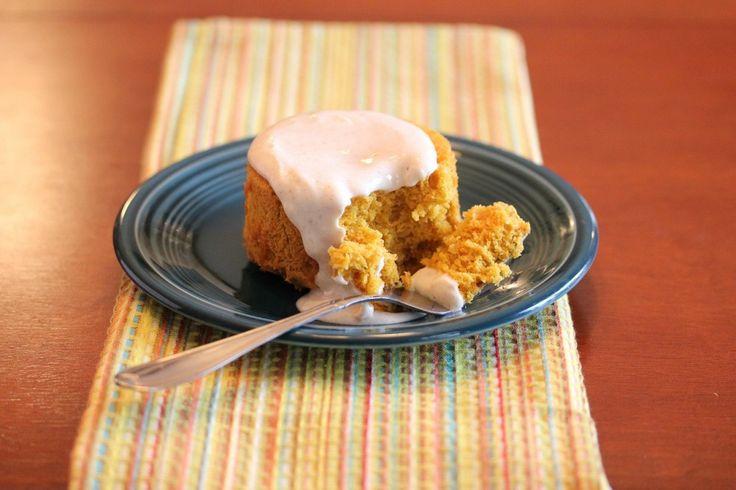 Three Ingredient Pumpkin Cake with Creme Fraiche Topping