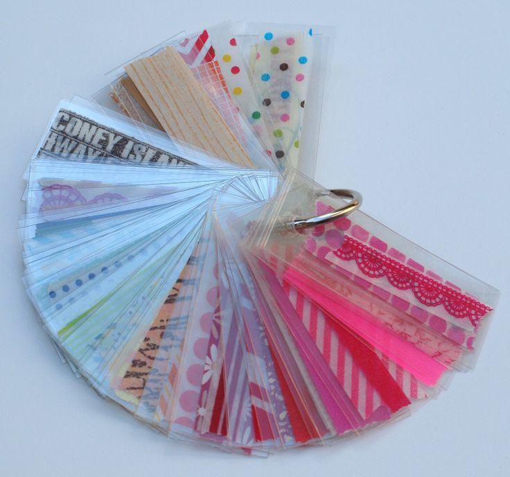 P6232710.JPG (1600×1497)-- brilliant idea for washi tape inventory More