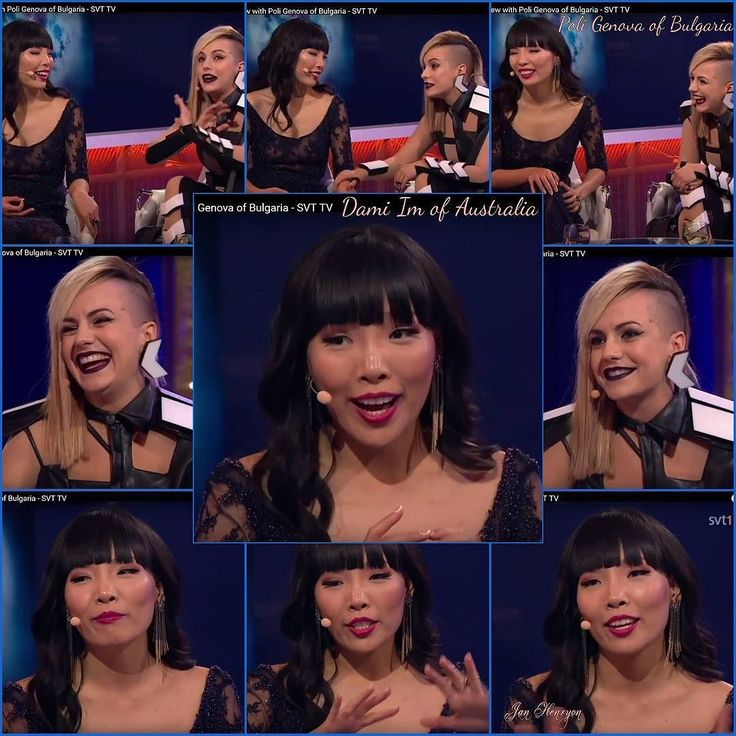 Dami Im of Australia with Poli Genova of Bulgaria in one of their many interviews at Eurovision. @damiim @dongeal @nkim_ #damiim #dongeal #nkim_ #DamiArmy @eurovision #eurovision #cometogether #stockholm #sweden #Australia @sbs_australia #sbsaustralia #Bulgaria #IfLoveWasACrime @poli.genova #poligenova by jlhenryon http://www.australiaunwrapped.com/ #AustraliaUnwrapped