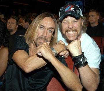 Punk`s dad.Iggy Pop and James Hetfield,Metallica
