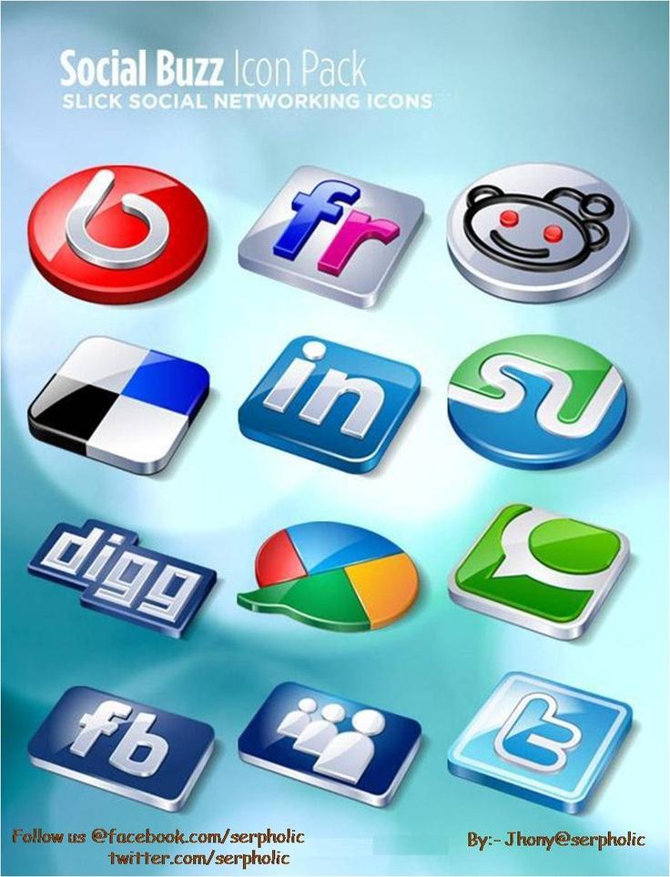 Social Buzz icon set