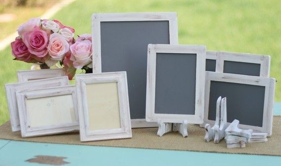 Chalkboards for messages to guests (time capsule, kissing bell, etc.)