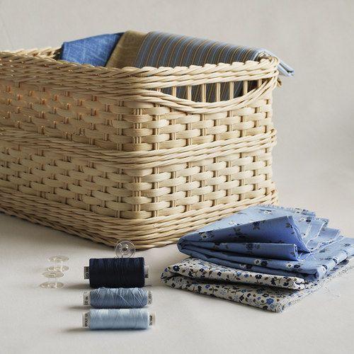 Obdélníkový košík šénový s průhmaty: