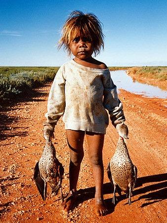 Aboringinal girl Central Australia - John White - Ducks