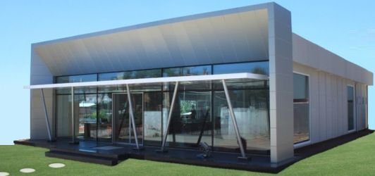Light steel structure with fiber reinforced cement based panels