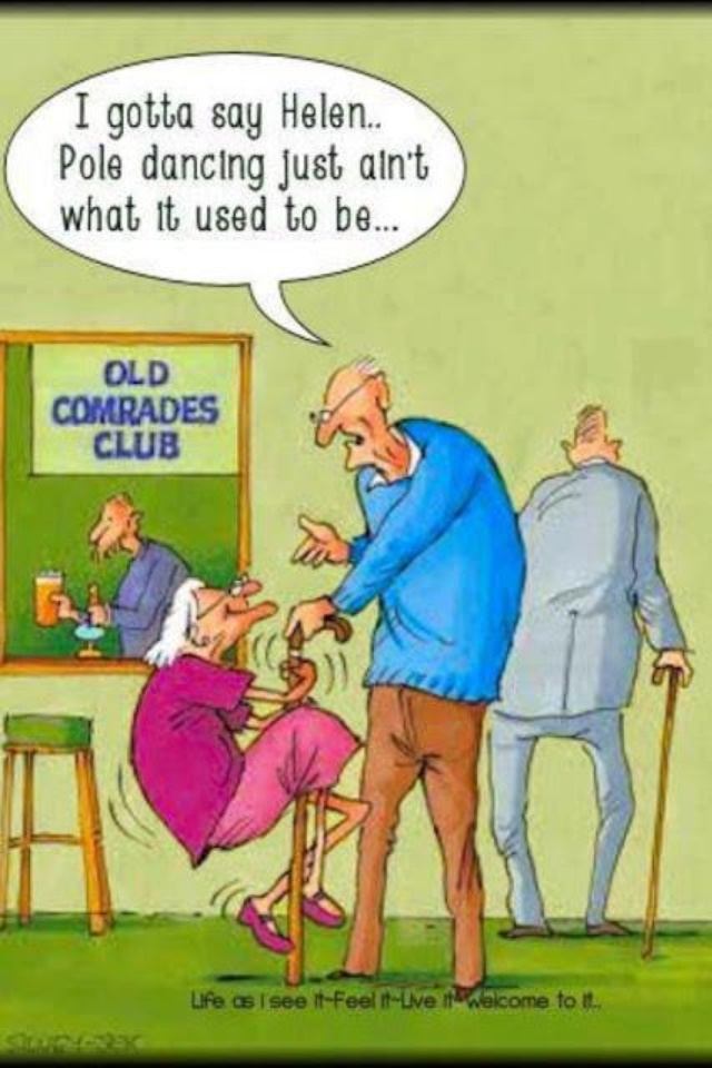Hilarious cartoon joke about pole dancing for seniors for more funny humor pictures and jokes visit