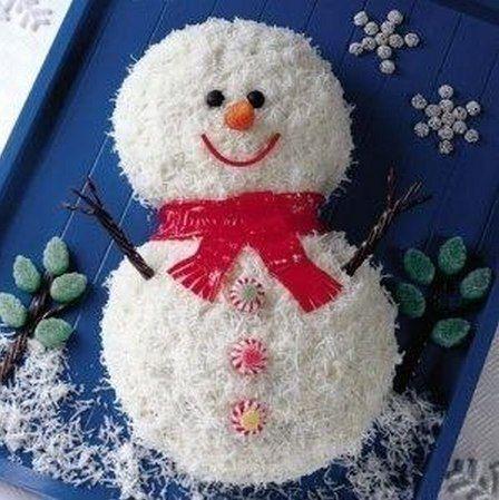 Торт Снеговик - порадуйте в новогоднюю ночь своих близких чудесным ... » Кулинарные рецепты