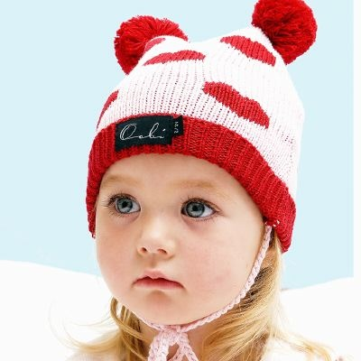 oobi baby | bear beanie hearts