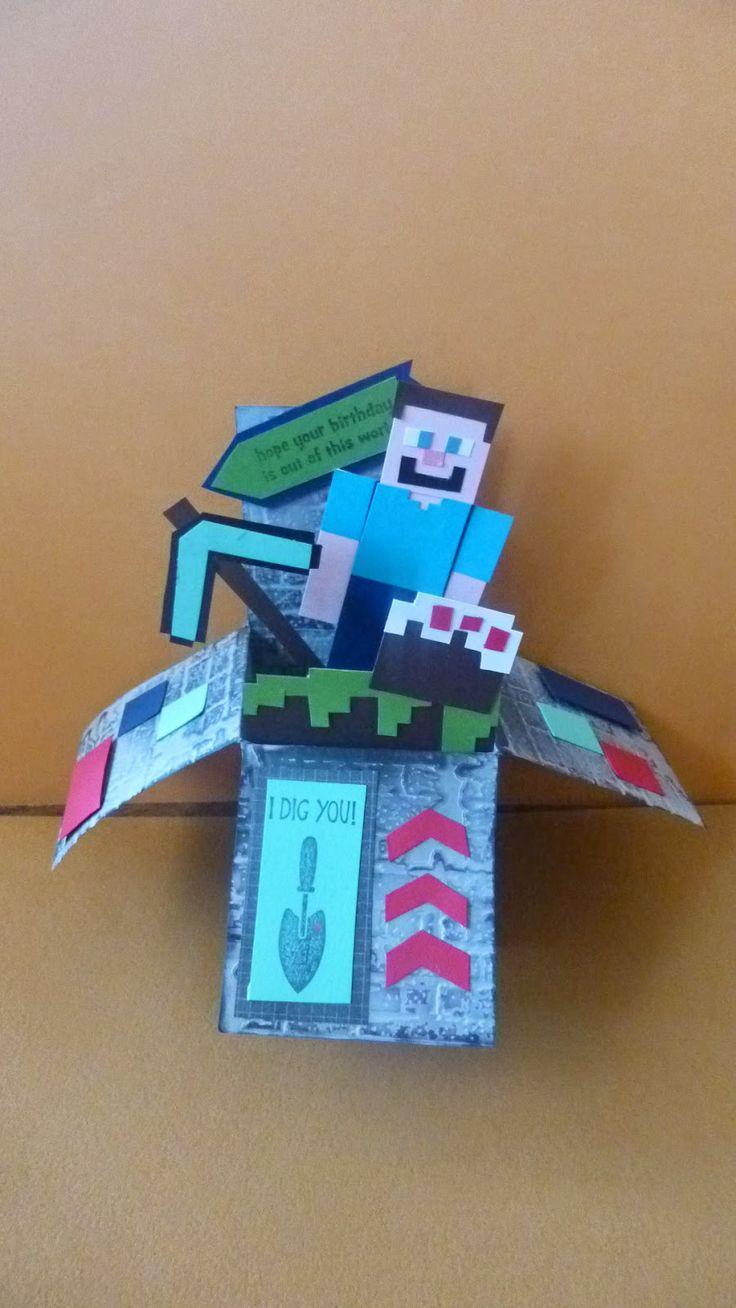 8 Best Minecraft Birthday Card Images On Pinterest Minecraft