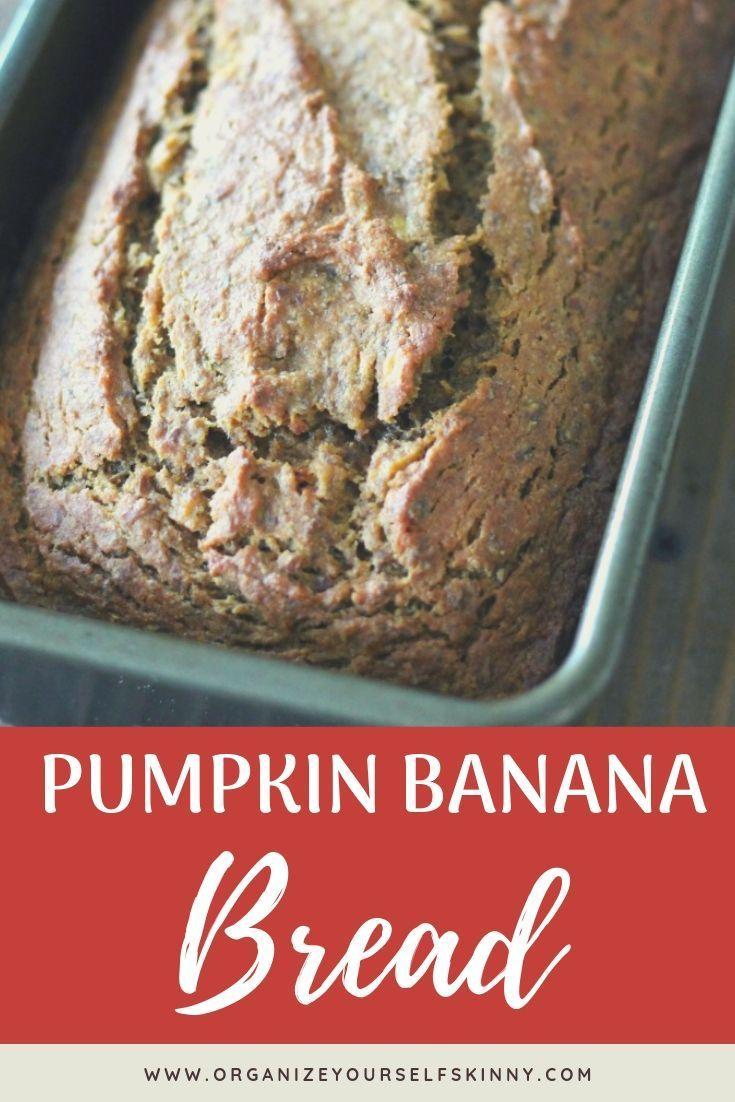 Healthy One Bowl Pumpkin Banana Bread