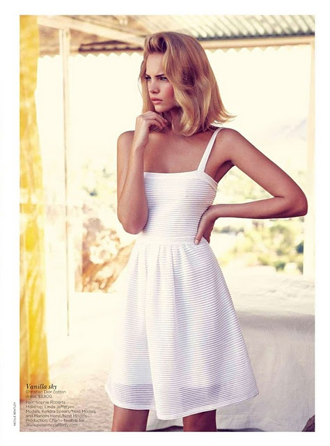 Has there ever been a more perfect, simple, stunning summer frock?: Christiandior, Christian Dior, Summerdress, Classic White, White Summer Dresses, Whitedress, Sundresses, Hair, Little White Dresses