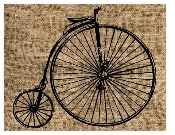 Instant Download  Vintage Bicycle Printable by creativeDIYsupplies, $3.90
