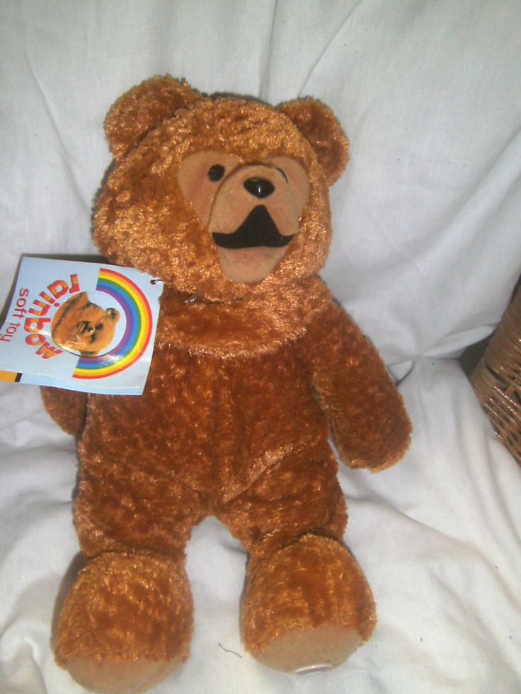Rainbow - Bungle Soft Toy Bear - 12  H - new with tag