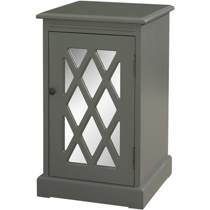 Powell Grey Mirror Chippendale Table