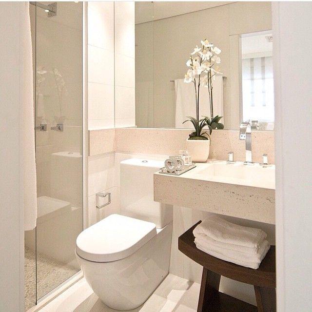 """""""Já quero! @decorcriative""""  banheiros pequenos  Pinterest  Ps -> Decorar Banheiro Minusculo"""