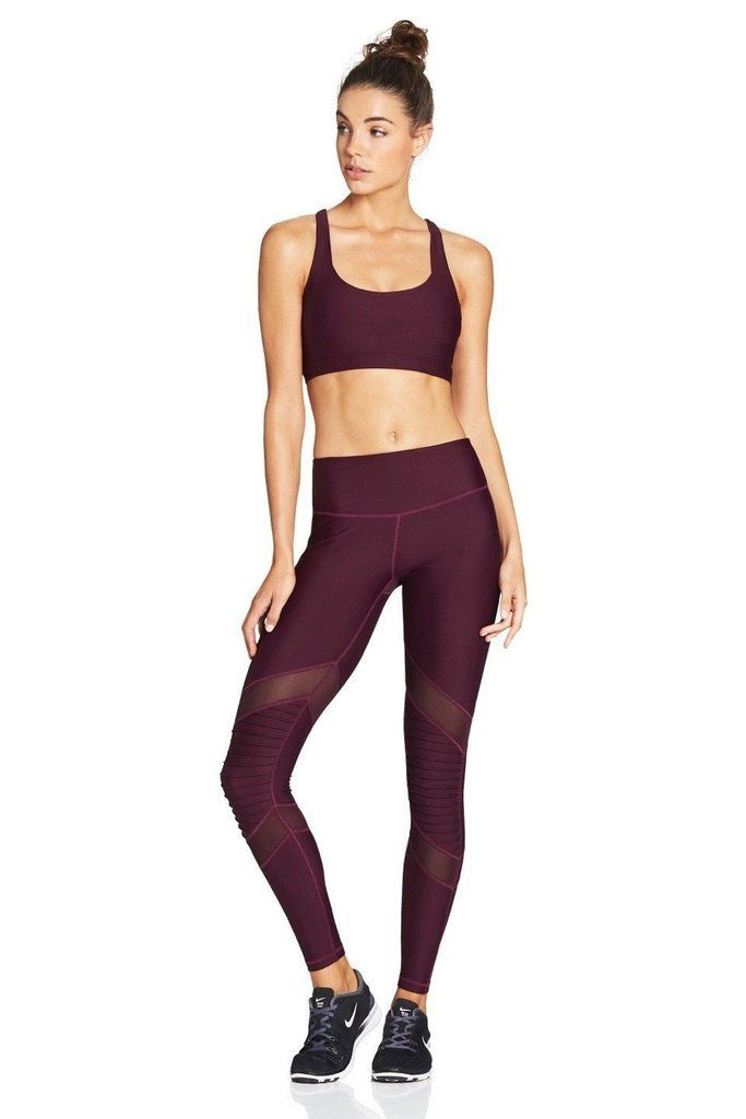 6c452ff1f9f795 Our high rise MOTO Mesh Tights in Plum👌 Teamed up with matching Plum CRISS  CROSS Sports Bra for the ultimate combo 💗🍒
