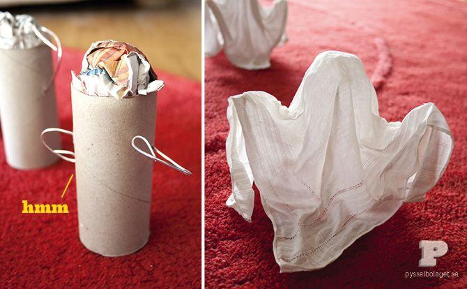 DIY: Handkerchief Ghosts