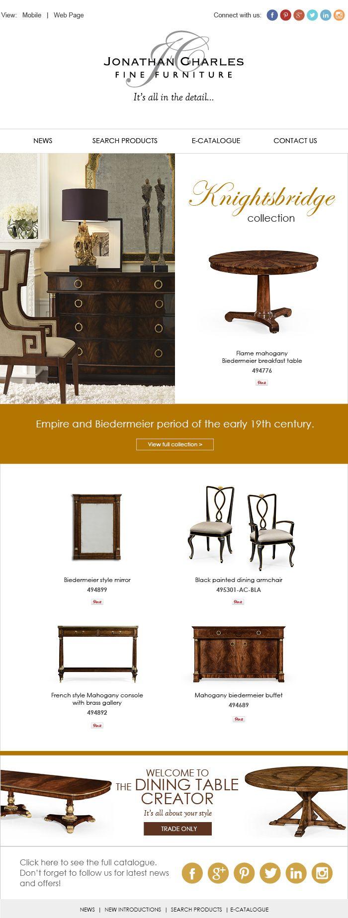 KNIGHTSBRIDGE COLLECTION Jonathancharles Furniture InteriorDesign Decorex Hpmkt Dining RoomsDining