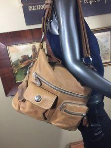 ROOTS Vintage Cognac Brown VILLAGE TRIBE Crossbody Messenger Bag Purse CANADA  | eBay