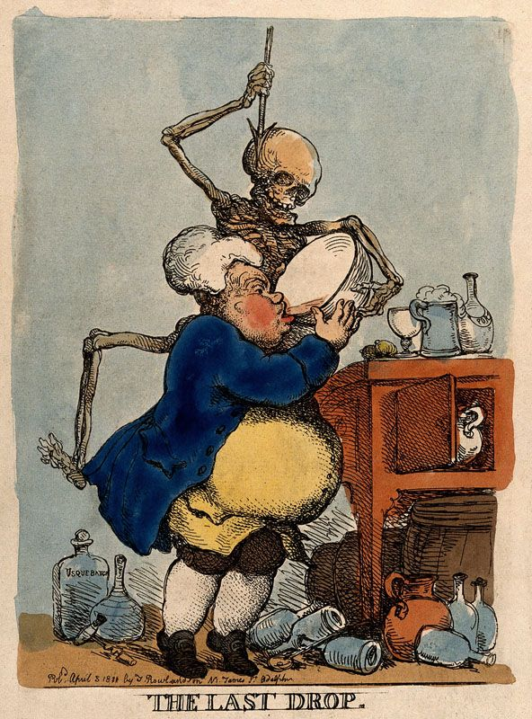 The Last Drop Etching by Thomas Rowlandson, published in London April 1811