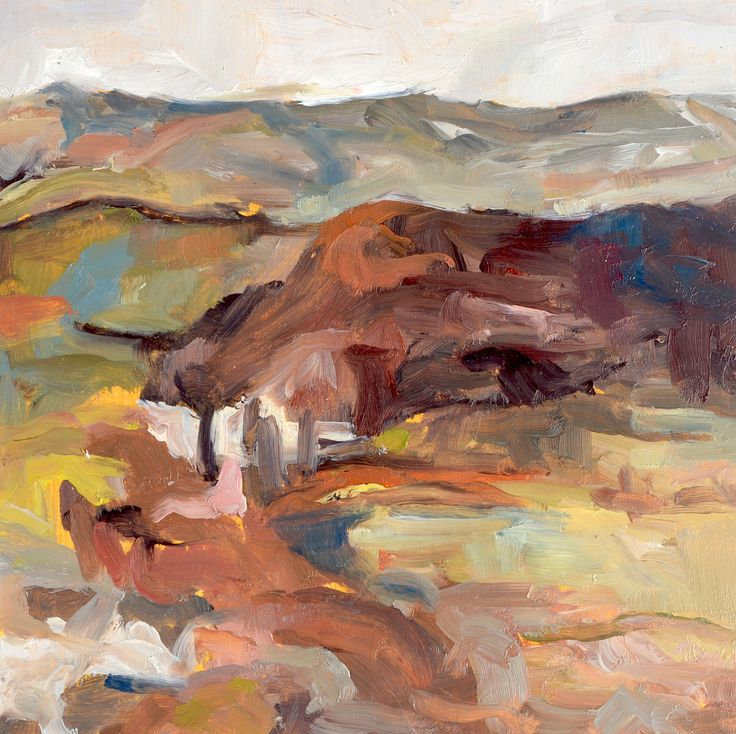 Scarlett - view from the studio.  Oil on board, one of five paintings for her AS Exam. AS Fine Art, Truro College. 2015
