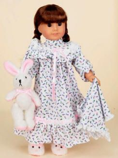 American Girl Doll Pajamas: Sleepwear & Bathrobes For 18 Inch Dolls At Sew Dolling