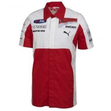 Puma Ducati Corso White/Red Team Shirt Paddock Studio. Available at www.paddockstudio.com