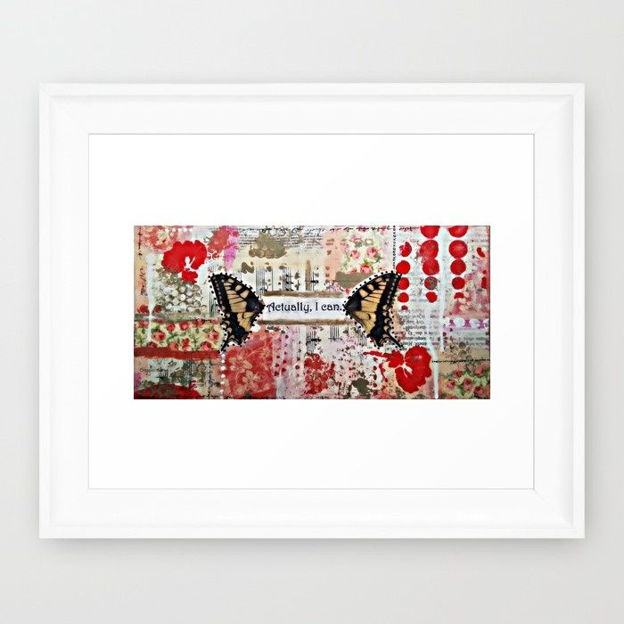 Actually, I can. Art by Croppin' Spree Framed Art Print by Croppin'Spree | Society6