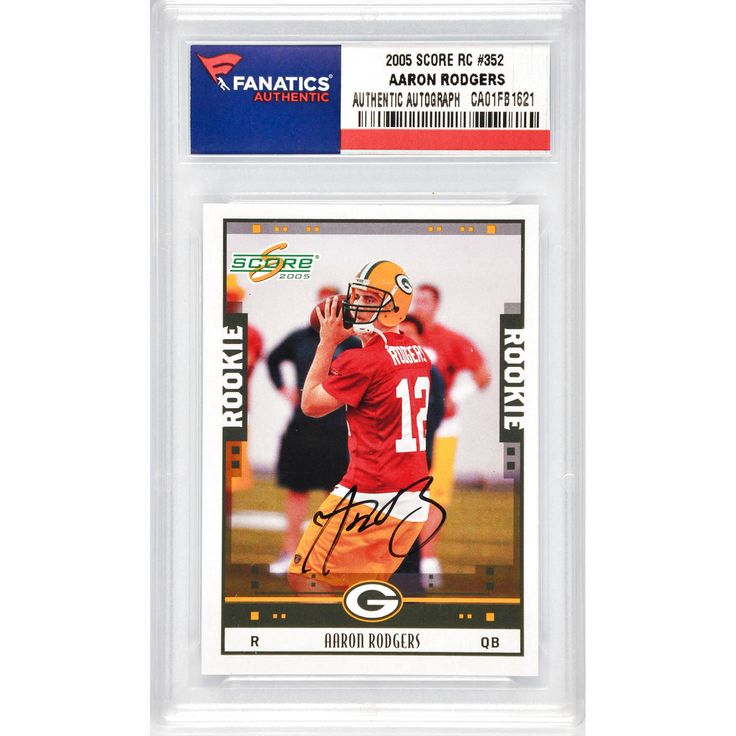 Aaron Rodgers Green Bay Packers Fanatics Authentic Autographed 2005 Score Rookie #352 Card - $319.99