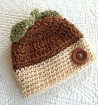 Acorn beanie for kids ( free crochet pattern ) // Horgolt meleg őszi makk sapka gyerekeknek (horgolásminta) // Mindy - craft tutorial collection // #crafts #DIY #craftTutorial #tutorial #DIYClothesForKids