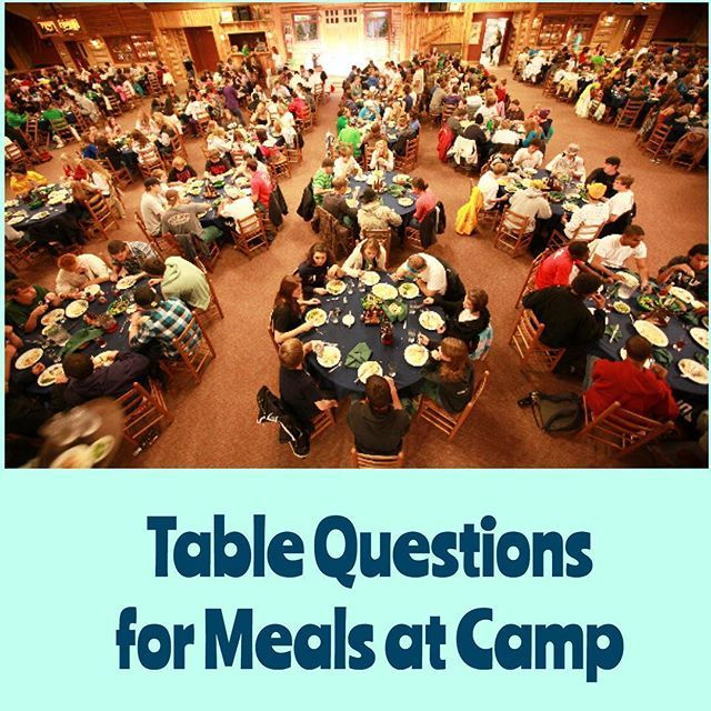 As a leader, you'll eat close to 20 meals with your middle and high school friends while at summer camp. Download a PDF with questions for each meal, today on YoungLifeLeaders.org (link in profile).