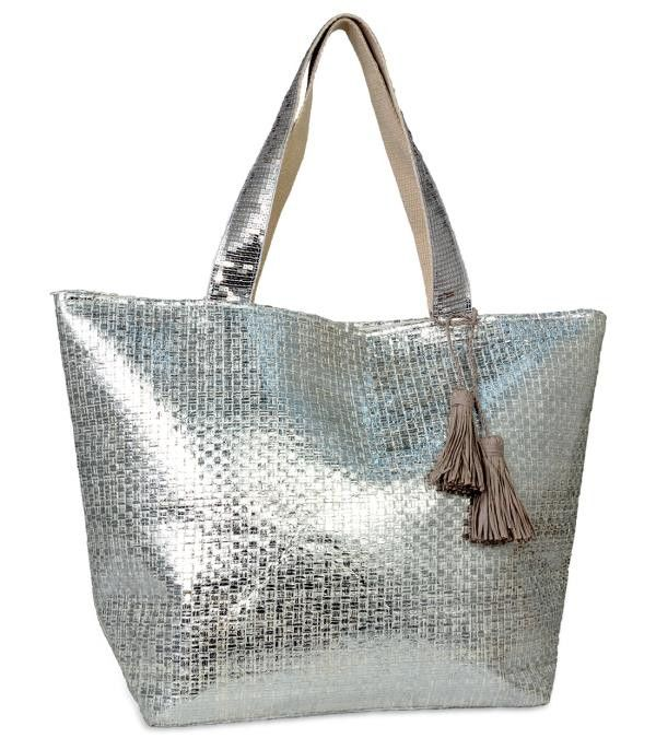 Woven Beach Bag with Sequins